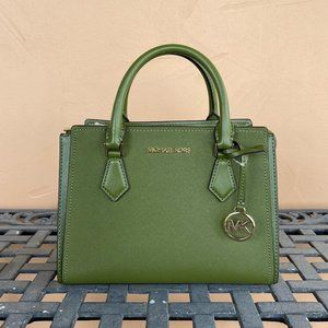 Michael Kors Hope Messenger Bag Green